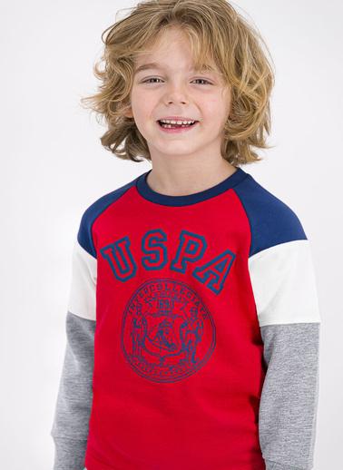 U.S. Polo Assn. Lisanslı Açık Kırmızı Erkek Çocuk Eşofman Takımı Kırmızı
